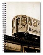 Chicago Metra Sepia Spiral Notebook