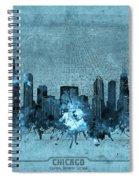 Chicago Skyline Vintage 4 Spiral Notebook