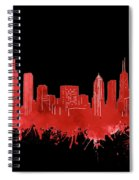 Chicago Skyline Watercolor 5 Spiral Notebook
