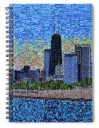 Chicago Sunset Spiral Notebook