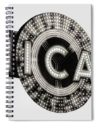 Chicago Theater Marquee - T-shirt Spiral Notebook