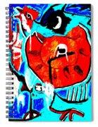 Chicken And Egg Spiral Notebook