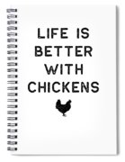 Chicken Design Life Is Better With Dark Lady Funny Gift Farm Girl Spiral Notebook