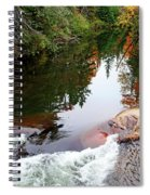 Chikanishing River In Autumn Spiral Notebook