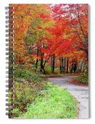 Chikanishing Road In Fall Spiral Notebook