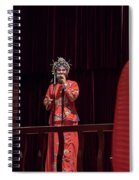 Chinese Opera Singer Onstage Spiral Notebook