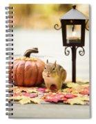 Chipmunk In The Autumn Spiral Notebook