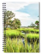 Chisolm Island - Marsh At Low Tide Spiral Notebook