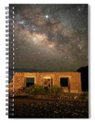 Chisos Mountain Homestead Under The Milky Way Spiral Notebook