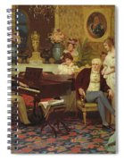 Chopin Playing The Piano In Prince Radziwills Salon Spiral Notebook