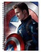 Chris Evans Captain America  Avengers Spiral Notebook