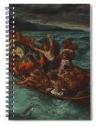 Christ Asleep During The Tempest  Spiral Notebook