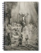 Christ Crucified Between The Two Thieves   The Three Crosses          Spiral Notebook