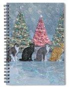 Christmas Cats Spiral Notebook