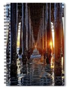 Christmas Eve At The Pier Spiral Notebook