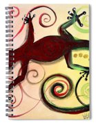 Christmas Gecko With Gold Poop Spiral Notebook