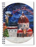 Christmas Greeting In Florence  Spiral Notebook