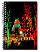 Christmas Red And Green Spiral Notebook