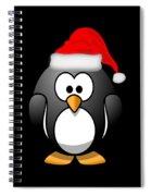 Christmas Santa Penguin Spiral Notebook