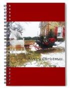 Christmas Sleigh Spiral Notebook