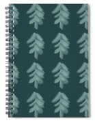 Christmas Tree Pattern Spiral Notebook