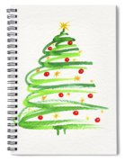 Christmas Tree With Decoration Spiral Notebook