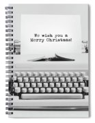 Christmas Wishes Written On An Old Typewriter. Spiral Notebook