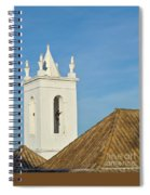 Church Bell Tower Behind Tiled Roofs In Tavira Spiral Notebook