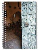 Church Door Tremouille Auvergne Francd Spiral Notebook