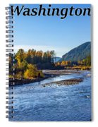Cispus River In The Gifford Pinchot National Forest, Washington State Spiral Notebook