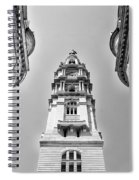 City Hall In Center City Philadelphia In Black And White Spiral Notebook