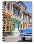 Classic Car In Havana, Cuba Spiral Notebook