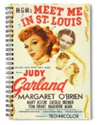 Classic Movie Poster - Meet Me In St. Louis Spiral Notebook