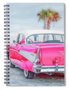 Classic Vintage Pink Chevy Bel Air  8x10 Scene Spiral Notebook
