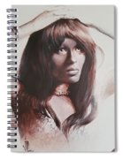 Claudia Lennear.brown Sugar.lady Grinning Soul Spiral Notebook