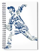 Clayton Kershaw Los Angeles Dodgers Pixel Art 30 Spiral Notebook