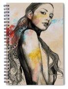 Cleansing Undertones - Zentangle Nude Girl Drawing Spiral Notebook