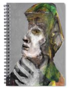 Clear Grey Sky Portrait Spiral Notebook