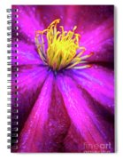 Clematis Flower Spiral Notebook