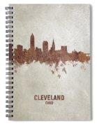 Cleveland Ohio Rust Skyline Spiral Notebook