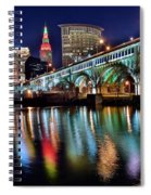 Cleveland Ohio Skyline Reflects Colorfully Spiral Notebook