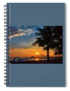Cleveland Sign Sunrise Spiral Notebook