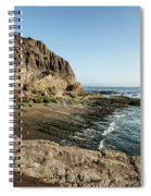 Cliff In The Ocean Spiral Notebook