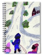 Climbing To The Top Of The Hill Spiral Notebook