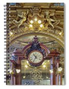 Clock At Le Train Bleu Spiral Notebook