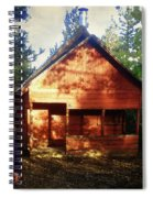 Closing The Cabin For Winter Spiral Notebook