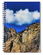 Clouds Abover Upper Yosemite Fall Spiral Notebook