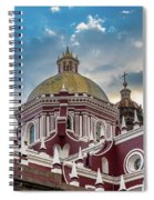 Clouds Over Puebla Cathedral Spiral Notebook