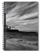 Clouds Over The Chipiona Faro Spiral Notebook