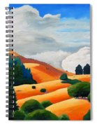 Clouds Over Windy Hill Spiral Notebook